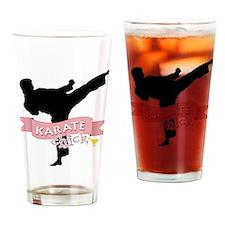 Karate Chick Drinking Glass