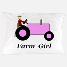 Farm Girl Pink Tractor Pillow Case