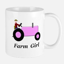 Farm Girl Pink Tractor Mug