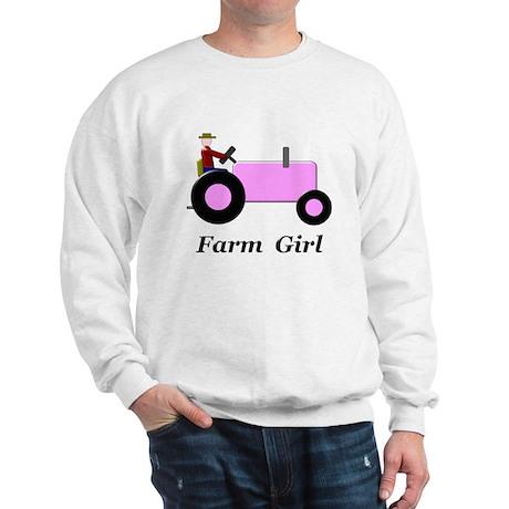 Farm Girl Pink Tractor Sweatshirt