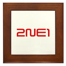 2NE1 logo 3000-500 Framed Tile