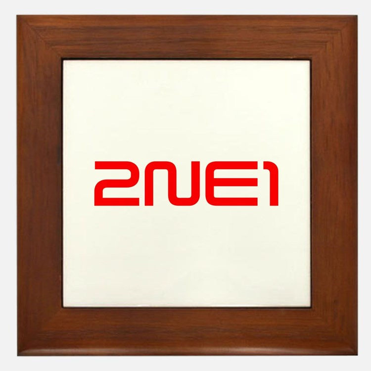 2NE1 logo 3000-500 Framed Tile