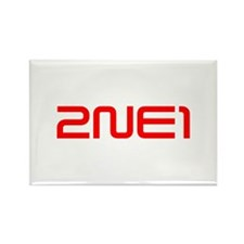 2NE1 logo 3000-500 Rectangle Magnet