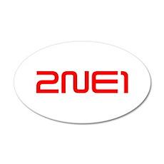 2NE1 logo 3000-500 Wall Decal