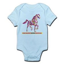 Eat. Sleep. Ride. Repeat. Infant Bodysuit