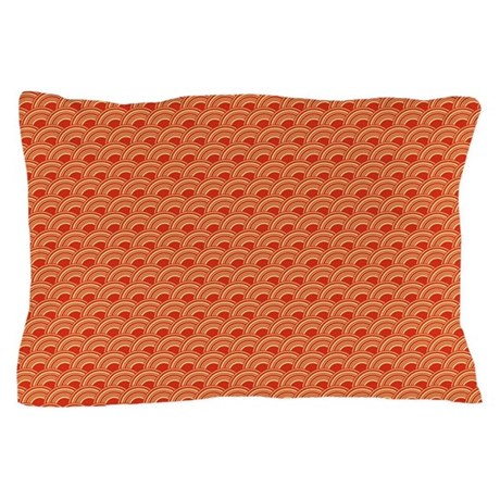 Red Waves Pillow Case