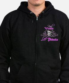 Real Women Love Pitbulls Zip Hoodie