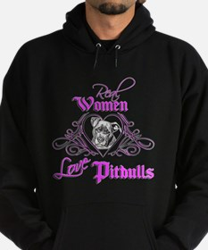 Real Women Love Pitbulls Hoodie (dark)