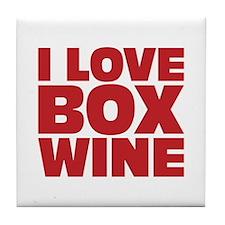 I love box wine Tile Coaster
