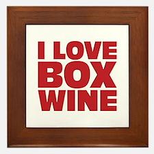 I love box wine Framed Tile