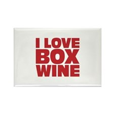 I love box wine Rectangle Magnet