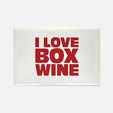 I love box wine Rectangle Magnet
