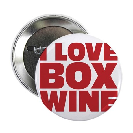 "I love box wine 2.25"" Button"