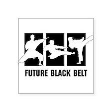 "Future Black Belt Square Sticker 3"" x 3"""