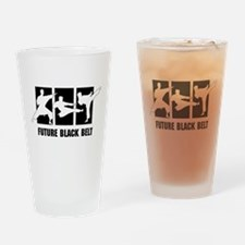 Future Black Belt Drinking Glass