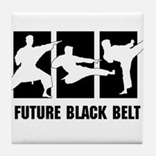 Future Black Belt Tile Coaster