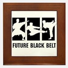 Future Black Belt Framed Tile