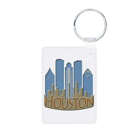 Houston Skyline NewWave Beachy Aluminum Photo Keyc