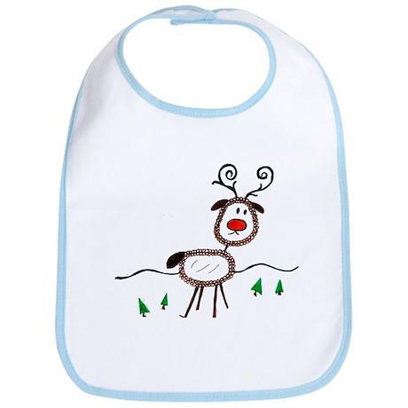 Reindeer-ArtinJoy Bib