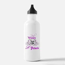 Real Women Love Pitbulls Water Bottle