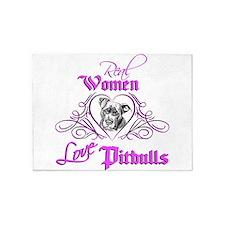 Real Women Love Pitbulls 5'x7'Area Rug