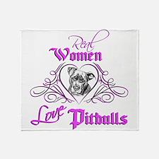Real Women Love Pitbulls Throw Blanket