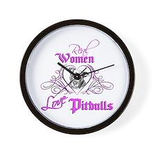Real Women Love Pitbulls Wall Clock
