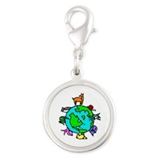 Animal Planet Rescue Silver Round Charm