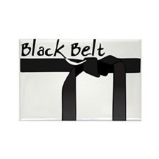 Black Belt Rectangle Magnet