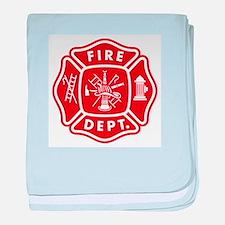 Fire Department Crest baby blanket