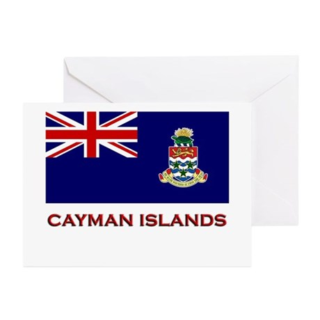 The Cayman Islands Flag Merchandise Greeting Cards