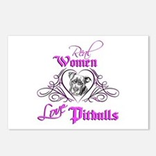 Real Women Love Pitbulls Postcards (Package of 8)