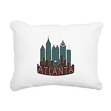 Atlanta Skyline Newwave Chocolate Rectangular Canv