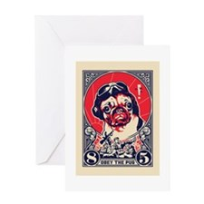 pug_pilot_greet Greeting Cards