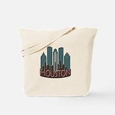 Houston Skyline NewWave Chocolate Tote Bag
