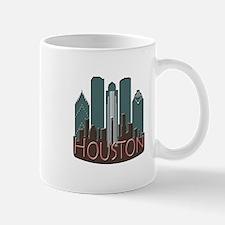 Houston Skyline NewWave Chocolate Mug