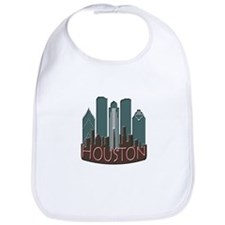 Houston Skyline NewWave Chocolate Bib