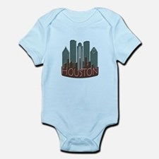 Houston Skyline NewWave Chocolate Infant Bodysuit