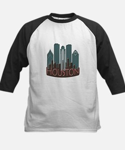 Houston Skyline NewWave Chocolate Tee
