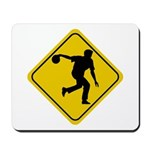 Bowling Crossing Sign Mousepad