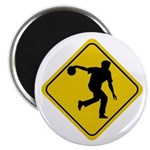 Bowling Crossing Sign Magnet