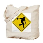 Bowling Crossing Sign Tote Bag