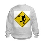 Bowling Crossing Sign Kids Sweatshirt