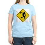 Bowling Crossing Sign Women's Pink T-Shirt