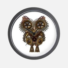Large Steampunk Owl Wall Clock