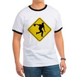 Bowling Crossing Sign Ringer T