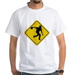 Bowling Crossing Sign White T-Shirt