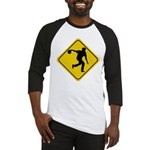 Bowling Crossing Sign Baseball Jersey