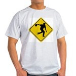 Bowling Crossing Sign Ash Grey T-Shirt