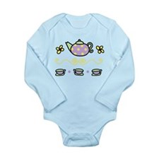 Tea Party Long Sleeve Infant Bodysuit